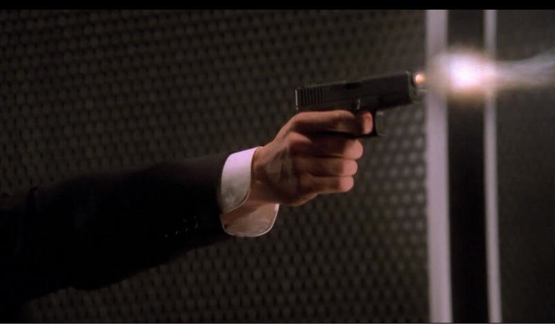 booth's arm shooting his weapon